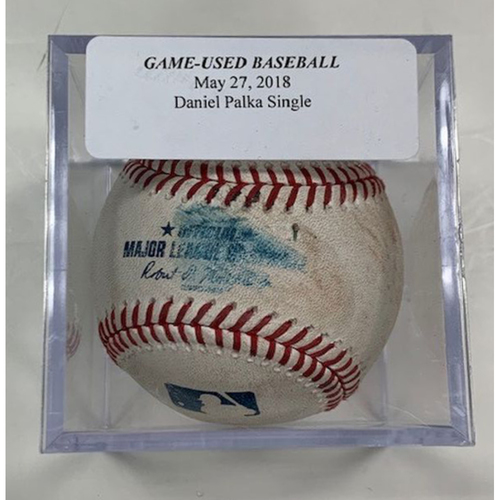 Photo of Game-Used Baseball: Daniel Palka Single