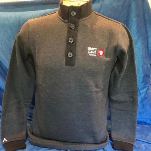 Photo of UMPS CARE AUCTION: UMPS CARE Antigua Pivitol Modern Sweater, Navy (Select Your Size)