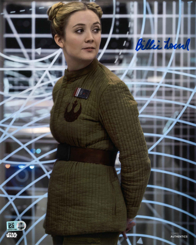 Billie Lourd As Lieutenant Connix 8X10 AUTOGRPAHED IN 'BLUE' INK PHOTO