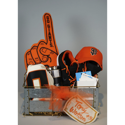 "Photo of Giants Wives Auction Tony Watson ""Favorite Things"" Basket"