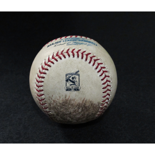 Photo of Game-Used Baseball - Pitcher: Tommy Milone, Batters: Jesus Aguilar (Single), Michael Brosseau (Single) - 8/10/19 vs. TB