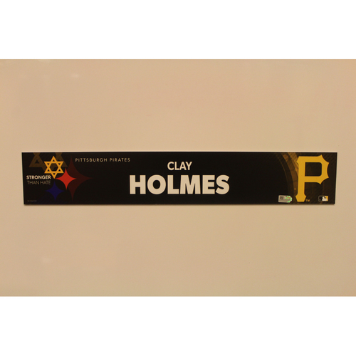 2019 Game Used Locker Nameplate - Clay Holmes