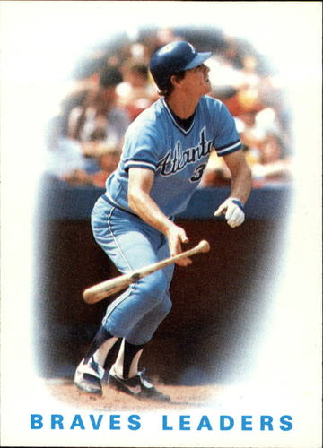 Photo of 1986 Topps #456 Braves Leaders/Dale Murphy