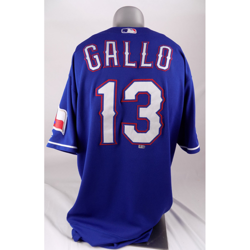 Photo of Final Season Game-Used Blue Jersey - Joey Gallo - 5/20/2019, 6/1/2019