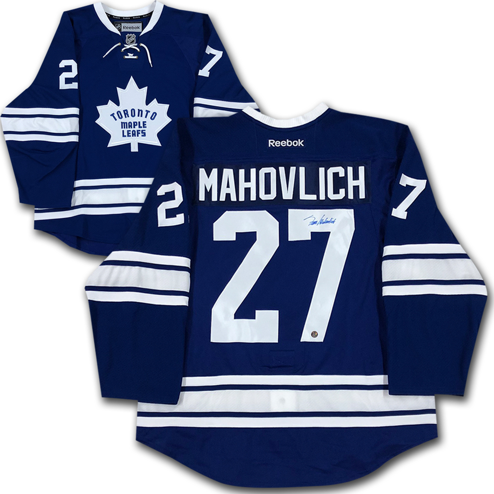 Frank Mahovlich Autographed Toronto Maple Leafs Pro Jersey
