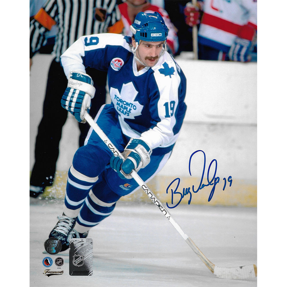 Bill Derlago Autographed Toronto Maple Leafs 8X10 Photo