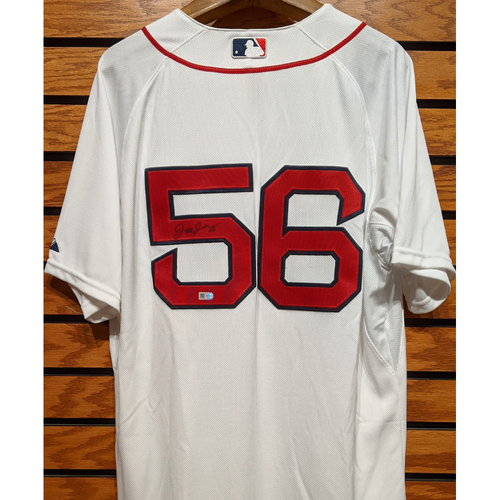 Joe Kelly #56 Autographed Home White Jersey
