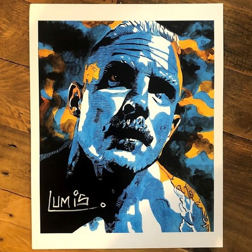 Photo of Dexter Lumis SIGNED Rob Schamberger 11 x 14 Art Print