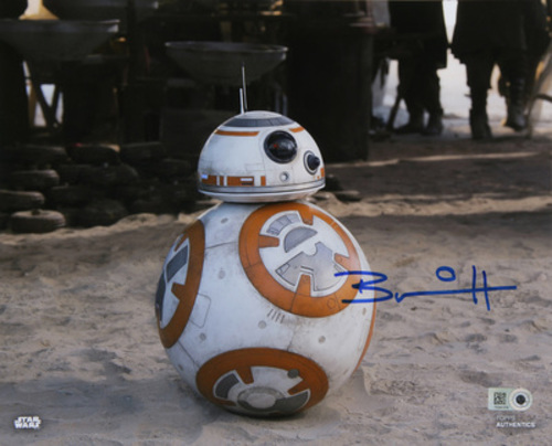 Brian Herring as BB-8 16x20 Autographed in Blue Ink Photo