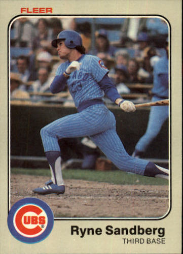 Photo of 1983 Fleer #507 Ryne Sandberg Rookie Card -- Hall of Famer