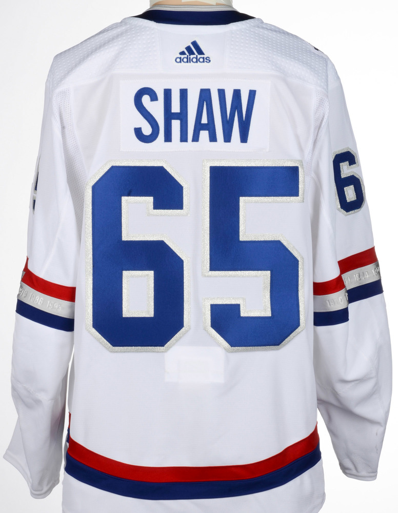 promo code 9a9c4 be946 Andrew Shaw Montreal Canadiens Game-Worn 2017 NHL100 Classic ...