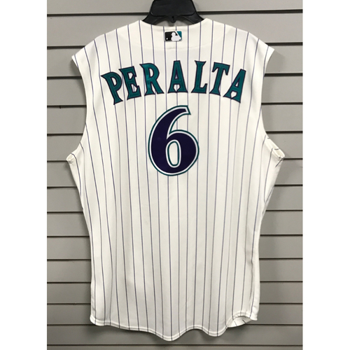 Photo of David Peralta Game-Used 2015 Throwback Jersey
