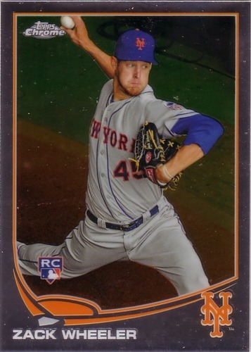 Photo of 2013 Topps Chrome #180 Zack Wheeler Rookie Card