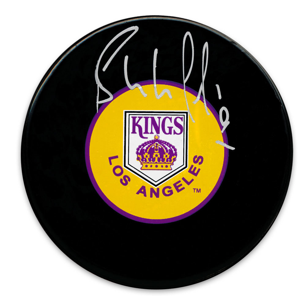 Bernie Nicholls Los Angeles Kings Autographed Puck