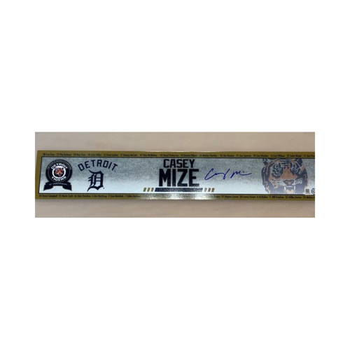 Photo of Autographed Casey Mize Name Plate