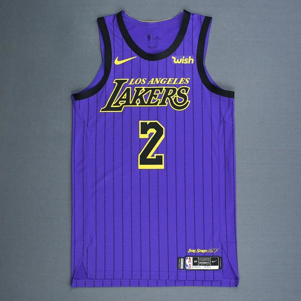 2e5dae783 Lonzo Ball - Los Angeles Lakers - Christmas Day  18 - Game-Worn City  Edition Jersey - Worn in 2 Games