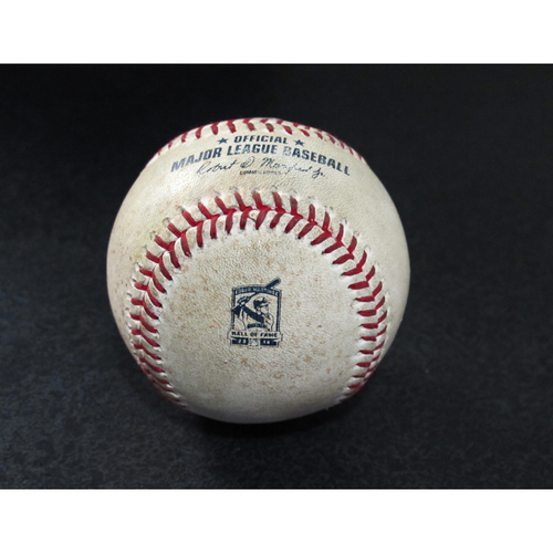Photo of Game-Used Baseball - Pitcher: Charlie Morton, Batters: Kyle Seager (Single), Dee Gordon (Single) - 8/10/19 vs. TB