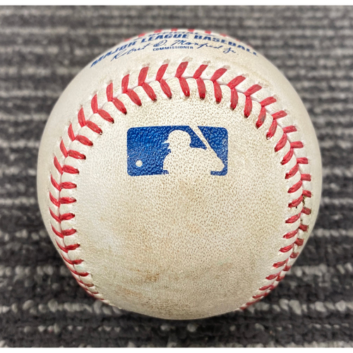 Photo of 2019 Game Used Baseball - San Francisco Giants vs. Chicago Cubs on 7/24 - T-1: Tyler Beede to Anthony Rizzo - Single to RF. Prev. Kris Bryant Strikes Out Swinging