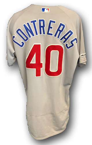 Photo of Willson Contreras Game-Used Jersey -- Cubs at Cardinals -- 9/28/19 -- Size 46