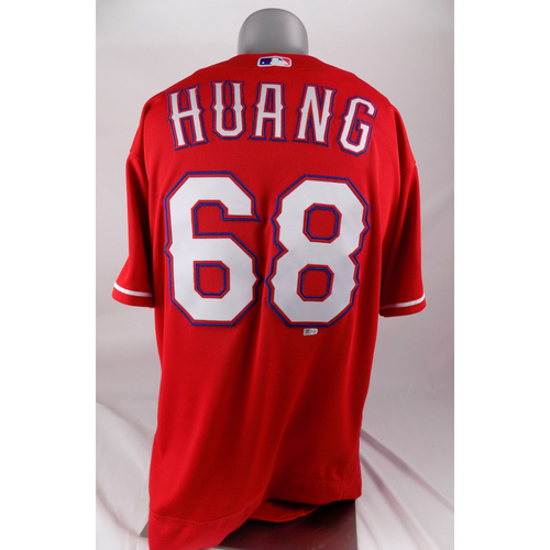Photo of Final Season Game-Used Red Jersey - Wei-Chieh Huang - 5/1/2019