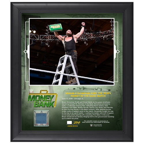 Photo of Money In The Bank 2018 Braun Strowman Limited Edition 15x17 Plaque (#1 of 250)