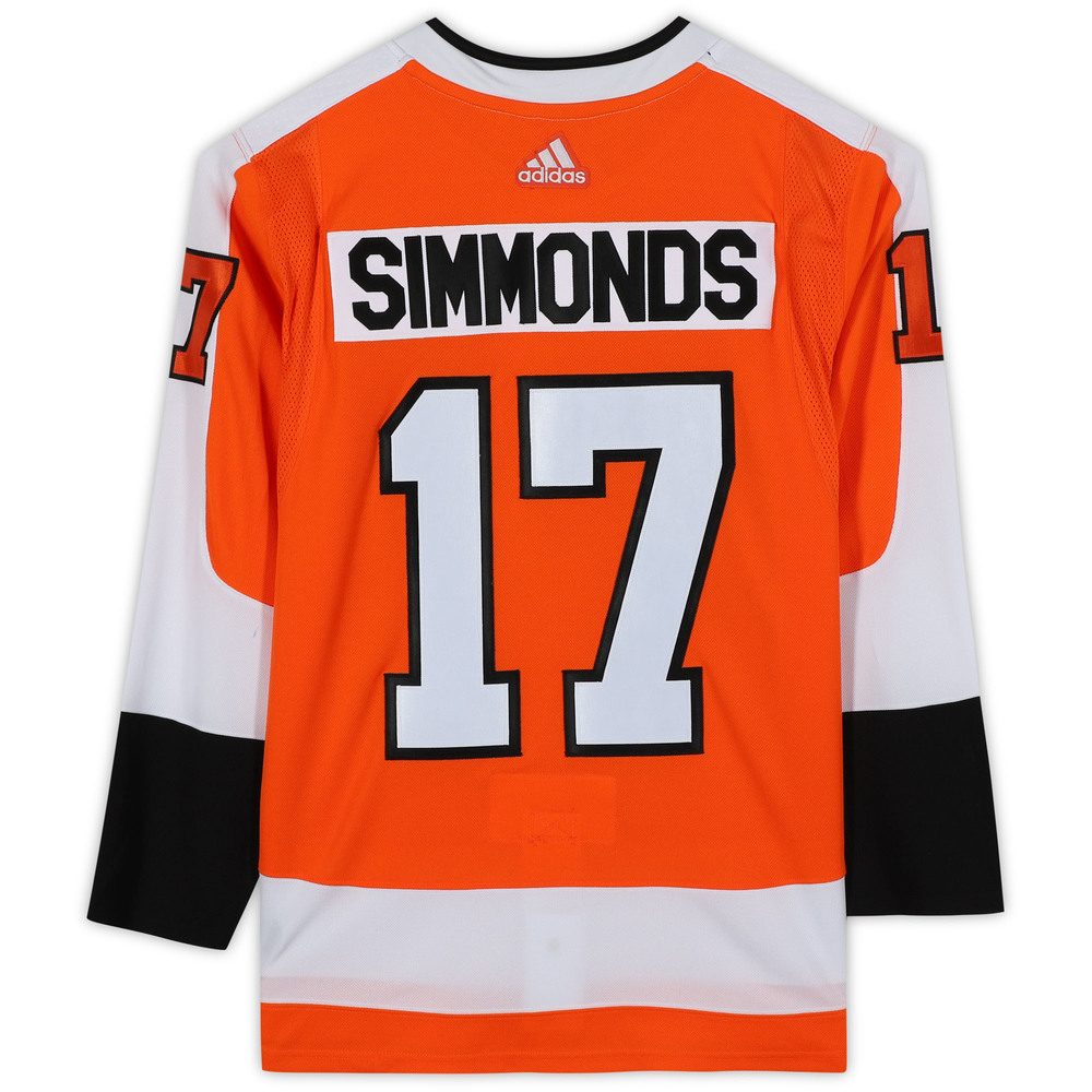 Wayne Simmonds Philadelphia Flyers Unsigned Orange Adidas Authentic Jersey