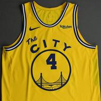 Omari Spellman - Golden State Warriors - Game-Worn Classic Edition 1966-67 Home Jersey - 2019-20 NBA Season