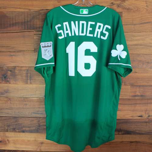 Photo of Team-Issued 2020 St. Patrick's Day Jersey: Reggie Sanders #16 - Size 48