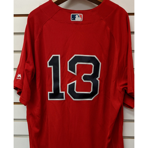 Photo of Hanley Ramirez #13 Team Issued Red Home Alternate Jersey