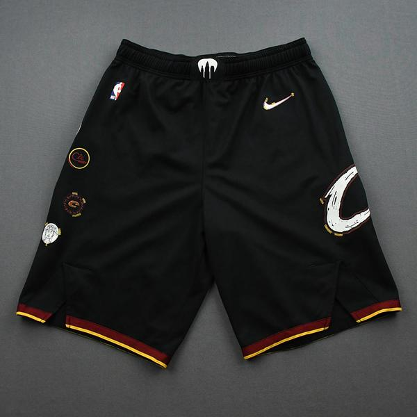 Image of Matthew Dellavedova - Cleveland Cavaliers - Game-Issued City Edition Shorts - 2020-21 NBA Season