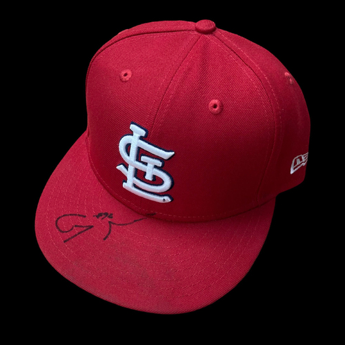Photo of Génesis Cabrera Autographed Team Issued Home Cap (Size 7 1/4)