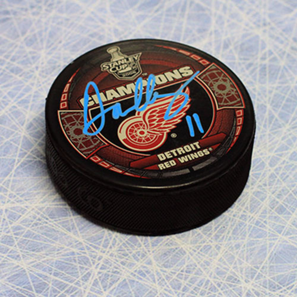 Daniel Cleary Detroit Red Wings Autographed 2008 Stanley Cup Hockey Puck