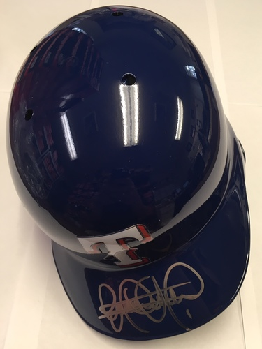 Photo of Elvis Andrus Autographed Rangers Batting Helmet