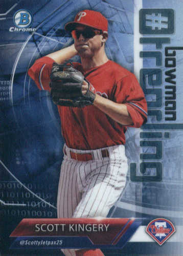 Photo of 2018 Bowman Chrome Hashtag Bowman Trending Refractors #SK Scott Kingery