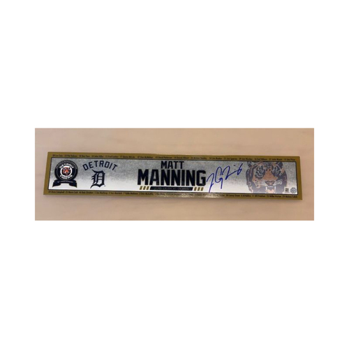 Photo of Autographed Matt Manning Name Plate