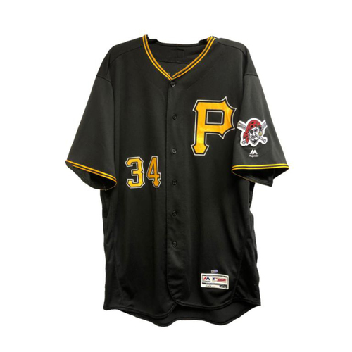 Photo of 2018 Game-Used Trevor Williams Black Alternate Jersey