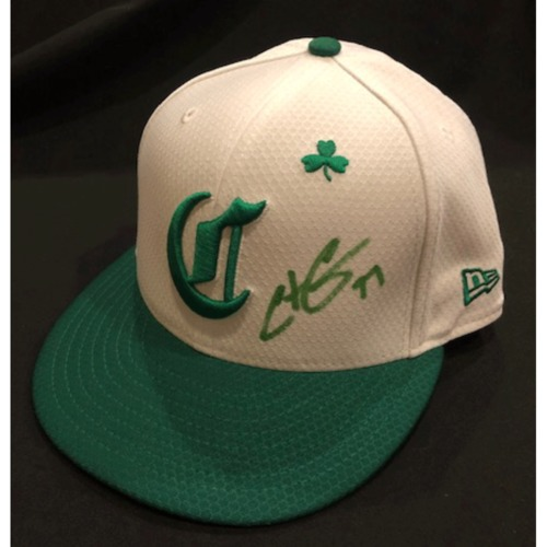 Photo of Christian Colon -- Autographed & Game-Used Cap -- 2019 St. Patrick's Day