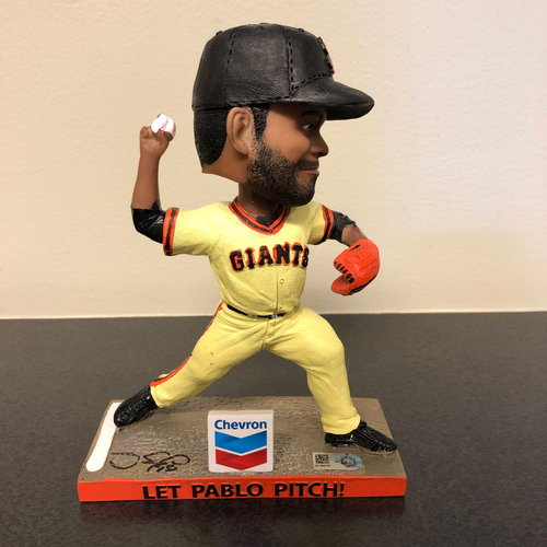 Photo of Pablo Sandoval Foundation Auction - 2019 Autographed Let Pablo Pitch! Bobblehead - Autographed by #48 Pablo Sandoval