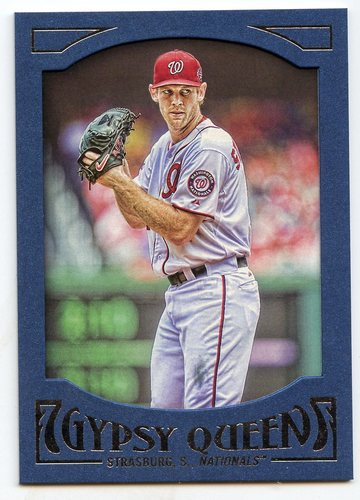 Photo of 2016 Topps Gypsy Queen Framed Blue #19 Stephen Strasburg