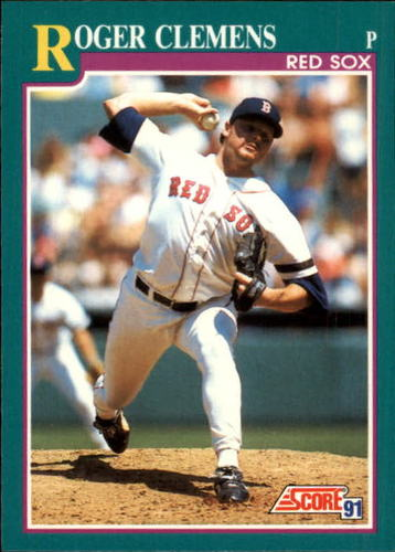 Photo of 1991 Score #655 Roger Clemens