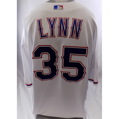 Photo of White Team-Issued Jersey - Lance Lynn - 10/8/19