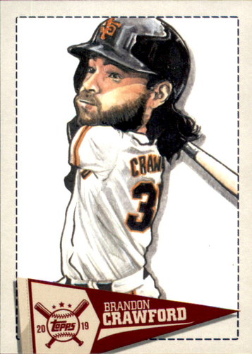 Photo of 2019 Topps Big League Star Caricature Reproductions #SCRBC Brandon Crawford