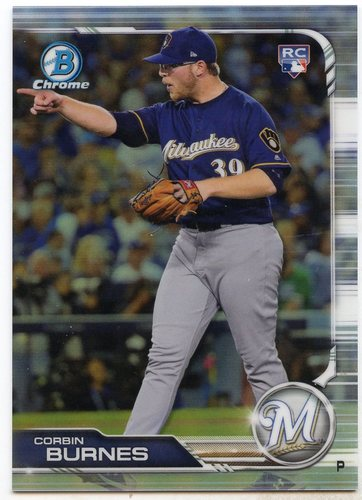 Photo of 2019 Bowman Chrome #32 Corbin Burnes RC