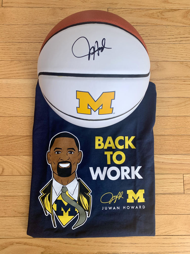 LIONS - Juwan Howard Tee and Signed Michigan Basketball