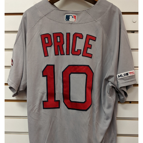 Photo of David Price #10 Team Issued Road Gray Jersey
