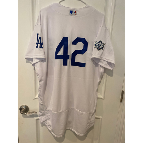 Photo of David Price Game-Used Jackie Robinson Day Jersey - Size 48T
