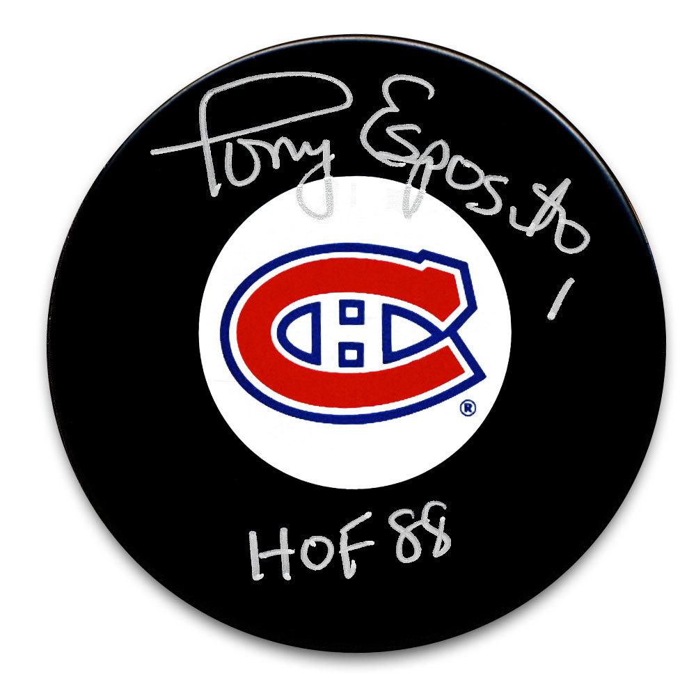 Tony Esposito Montreal Canadiens HOF Autographed Puck
