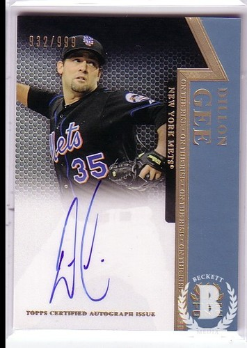 Photo of 2011 Topps Tier One On The Rise Autographs #DGE Dillon Gee/999