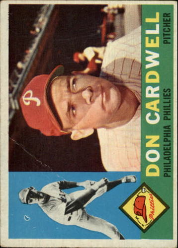 Photo of 1960 Topps #384A Don Cardwell WB