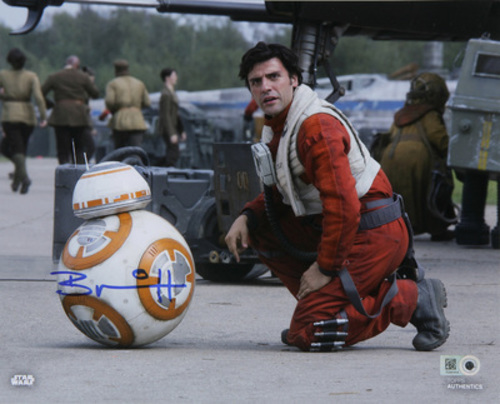 Brian Herring as BB-8 8x10 Autographed in Blue Ink Photo